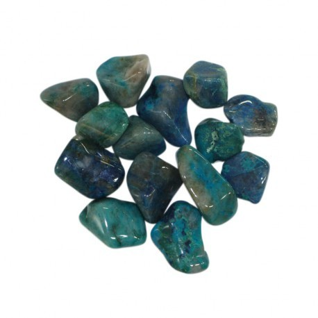 Lot de 5 pierres roulées chrysocolle