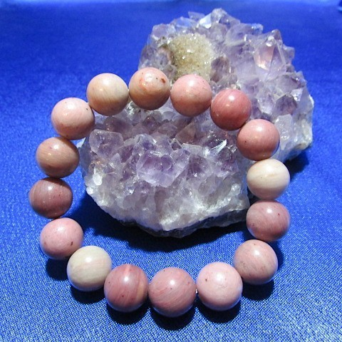 Bracelet Rhodonite boules 12 mm