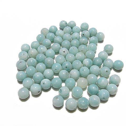 Perle Amazonite ronde  8 mm