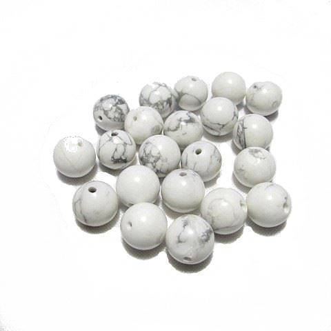 Perle ronde Howlite 12 mm