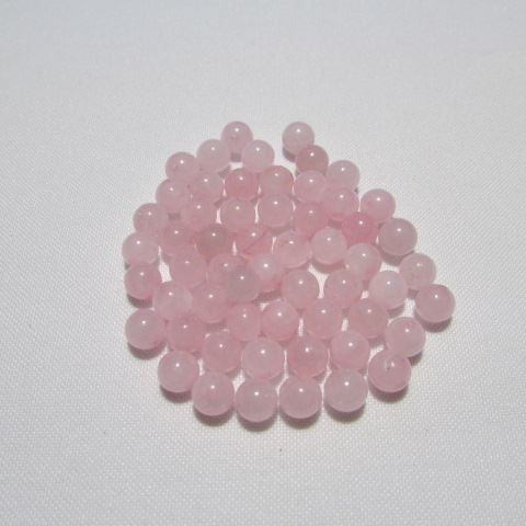 Perle Quartz rose 6 mm